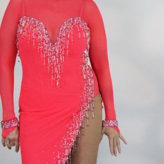 Learn to sew advanced Ballgown, Latin, Skate dresses, www.seamssensational.com