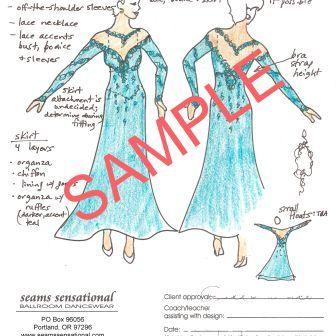 Have Teresa Sigmon design your dress while you make it. www.seamssensational.com